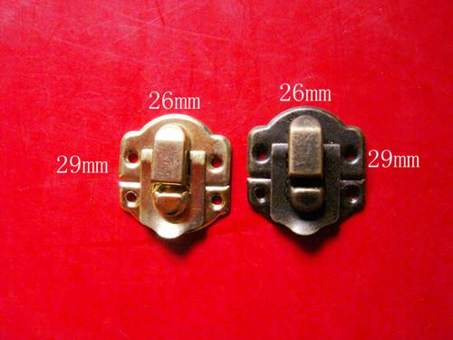 Wholesale Price Antique Jewelry Gift Wine Wooden Box Suitcase Hasp Latch Lock Screws(China (Mainland))