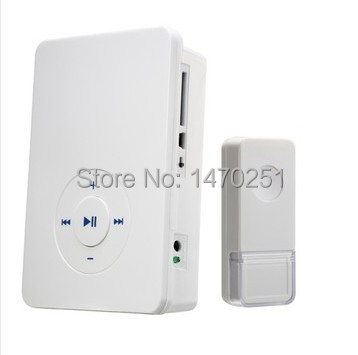 200m Touch Button Control DIY MP3 Remote Wireless Doorbell Door Chime Battery Operated Support SD Card Storage Free Shipping(China (Mainland))