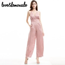 Buy Love&Lemonade V-Neck Nude Color High Waist Jumpsuits TB 9330 for $30.99 in AliExpress store