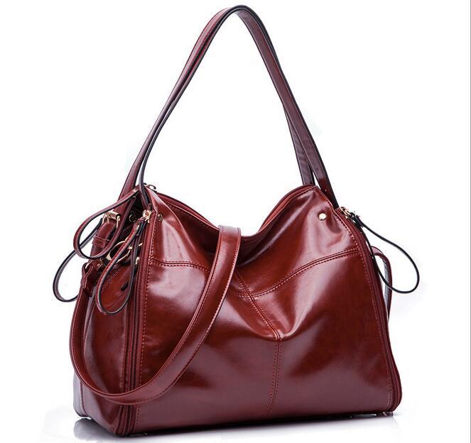 Воловьей кожи женщин сумка большая сумка портативный моды воловьей кожи сумка модная повседневная мотоцикл сумка сумка
