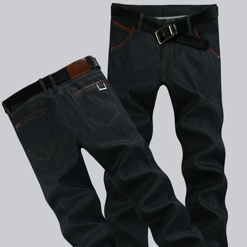 Free delivery [Code] 2014 big autumn men's Korean cultivating waist cotton jeans 28/29/30/31/32/33/34/....46(China (Mainland))