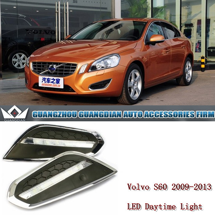 free shipping Excellent CAR-Specific VOLVO S60 2011-2013 LED DRL Daytime Running Light fog lamp lighting accessories<br>
