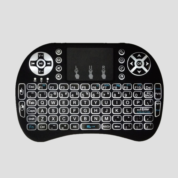 Backlight I8 English Version i8 Wireless Gaming Mini Keyboard 2.4G multitouch Touchpad Air Mouse For Smart Android TV Box PC(China (Mainland))