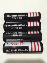 1×18650 Ultrafire 6000MAH 3.7V 18650 battery Li-ion rechargeable lithium  cell for led flashlight torch free shipping