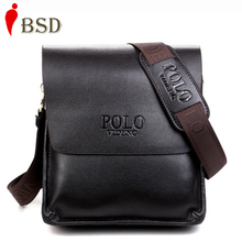 Hot Sale 2015 Polo genuine leather men messenger bags business casual men shoulder bag men briefcase price wholesale V1B60