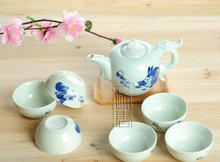 7pcs Deluxe Tea Set, Porrtery Teaset,Rabbit,A3TQ06, Free Shipping