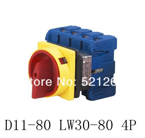 selector rotary switch  D11-80 on/off  80a 4p 690v Universal Changeover combination switch d11<br><br>Aliexpress