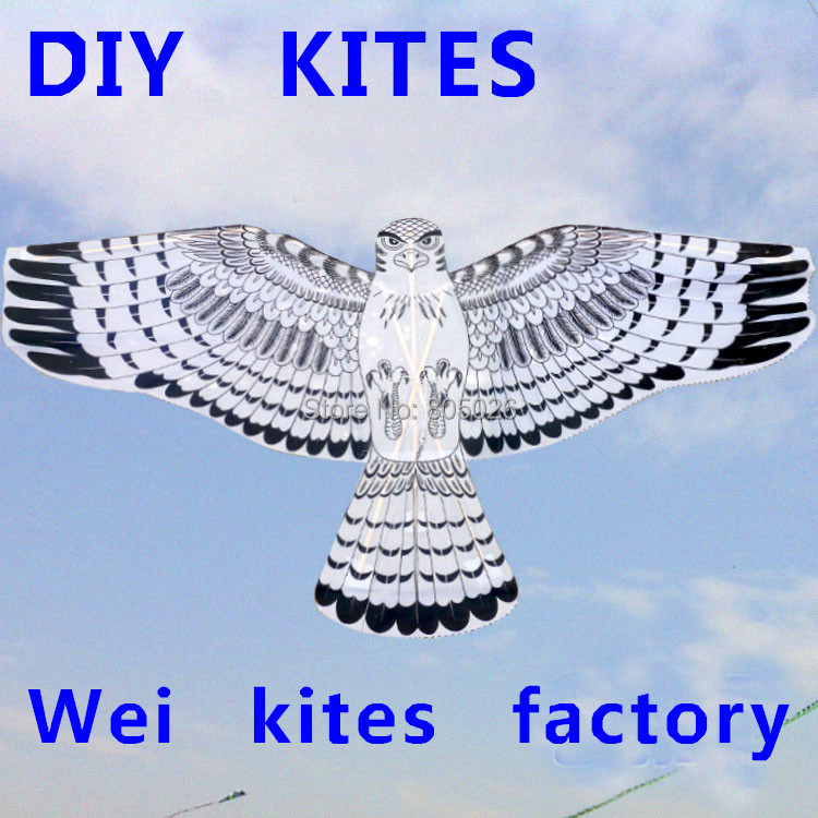 free shipping high quality diy eagle kite trainer kite 10pcs/ot with handle large kite line best price wei kites factory(China (Mainland))