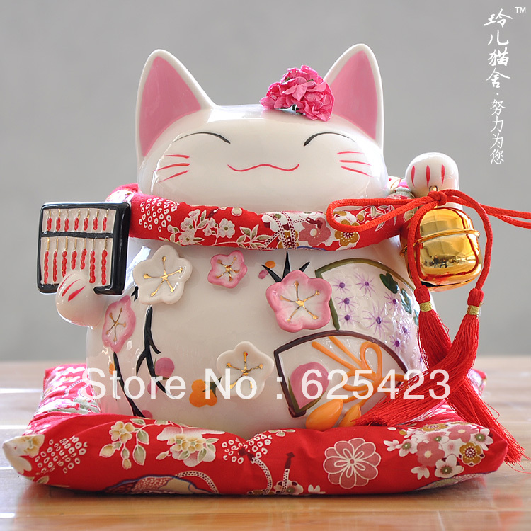 Com buy gold abacus lucky cat decoration wedding gifts large ceramic