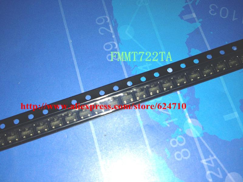 Il trasporto libero 100 pz/lotto FMMT722TA FMMT722 sot-70 v 1.5a zetex pnp silicon transistor di commutazione di potenza(China (Mainland))