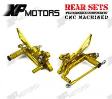 Arrived CNC Adjustable Foot pegs Rearset Footrests Rear Sets Yamaha YZF-R6 2006 07 08 09 10 11 2012 2013 2014 2015 Gold - Speed and Sport Graphics store