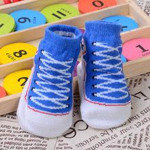1 pair/lot Winter Autumn Newborn Cotton Baby Three-dimensional Socks Non Slip Cartoon Blue pink red gray Children for Girls Boys(China (Mainland))