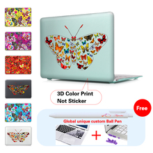 Colorful Butterfly Collection Print Crystal Case For Apple Macbook Air Pro Retina 11 12 13 15 Laptop Bag For Mac Book 13.3 Inch