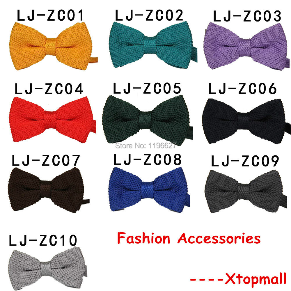Fashion Mens Bow Tie Knit Knitted Solid Color Winter Sweater Tuxedo Neck Ties Men Vintage Korean London Bowties Cravat(China (Mainland))