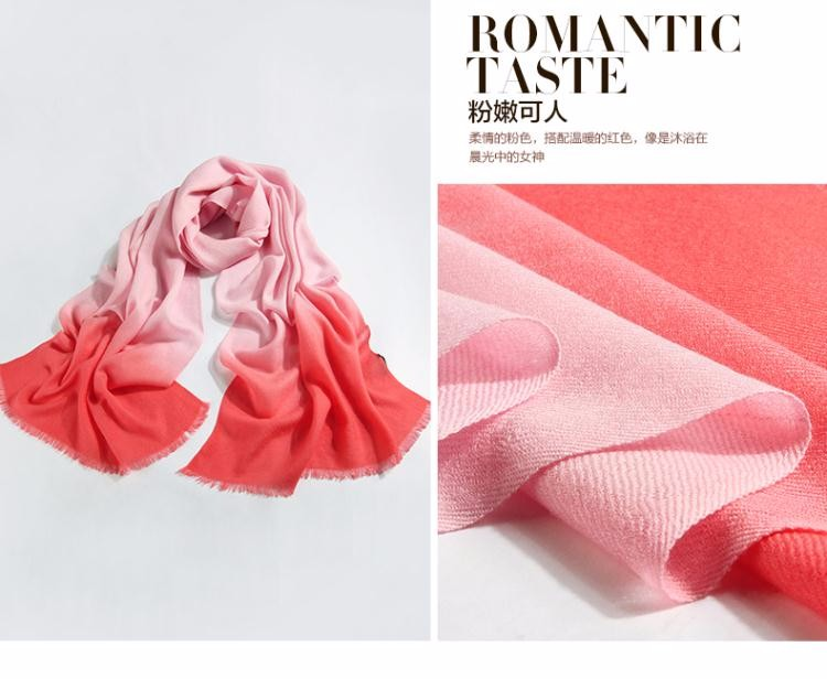 2016 winter wool cape scarf for Women girls twill knited tippet gradient color Ladies wool shawls wraps infinity size 200*60CM
