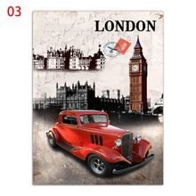 Minimalism Picture Kids Living Room Home Decor London England Flag And Building Nordic Poster Canvas Painting HD Wall Art Print(China)