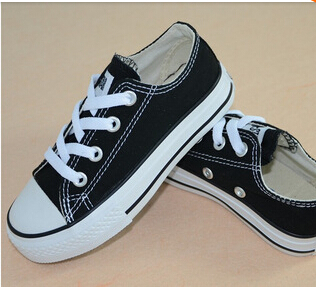 New children canvas shoes fashion high - low shoes boys and girls canvas shoes and sports kids shoes children shoes