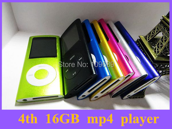 hot sale 16GB 4TH MP3 MP4 Players FM Radio/Ebook Reader 9 colors for choose 2PCS(China (Mainland))
