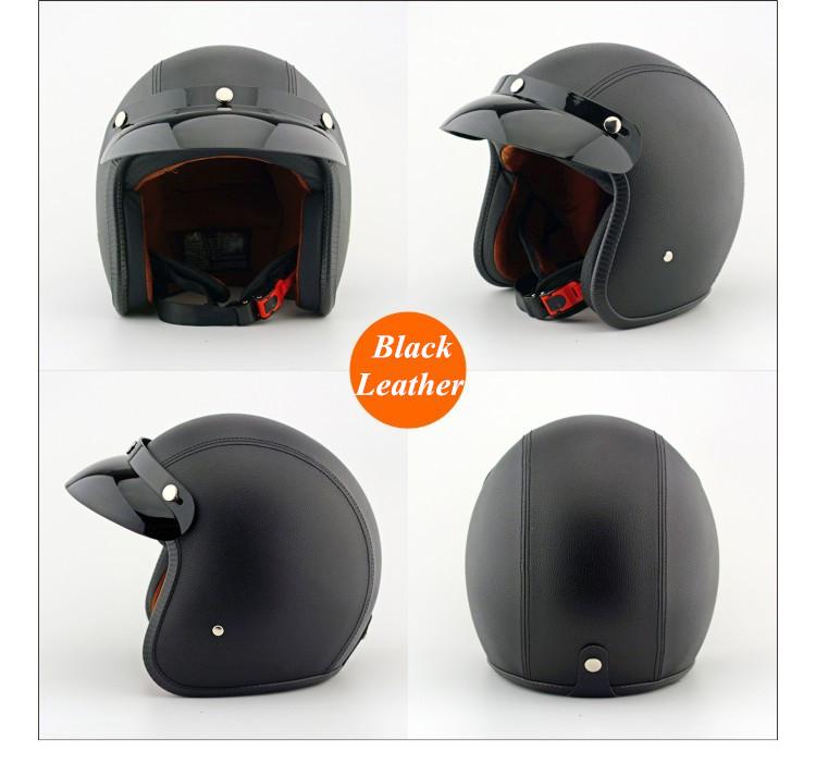 EE support Unisex Fashion Retro Harley Helmets Motos Motocross Motorcycle Helmet Capacete ABS+Leather XY01