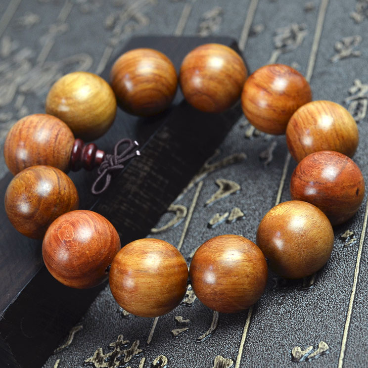 NEW Natural rosewood handmade Buddha bead bracelets Fashion ebony bangles Vintage wooden jewelry For men wholesale<br><br>Aliexpress