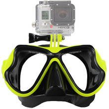 1pcs gopro diving and snorkel gear tempered lens and silicone diving mask cheap price newest gopro mask designs freeshipping(China (Mainland))