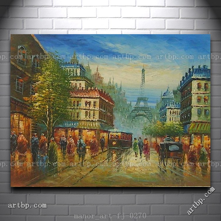 Canvas Wall Art Oil Painting Modern Decor Hand Painted Paris Eiffel Tower Bedroom Wall Decor Painting Red Wall White Art Deco(China (Mainland))