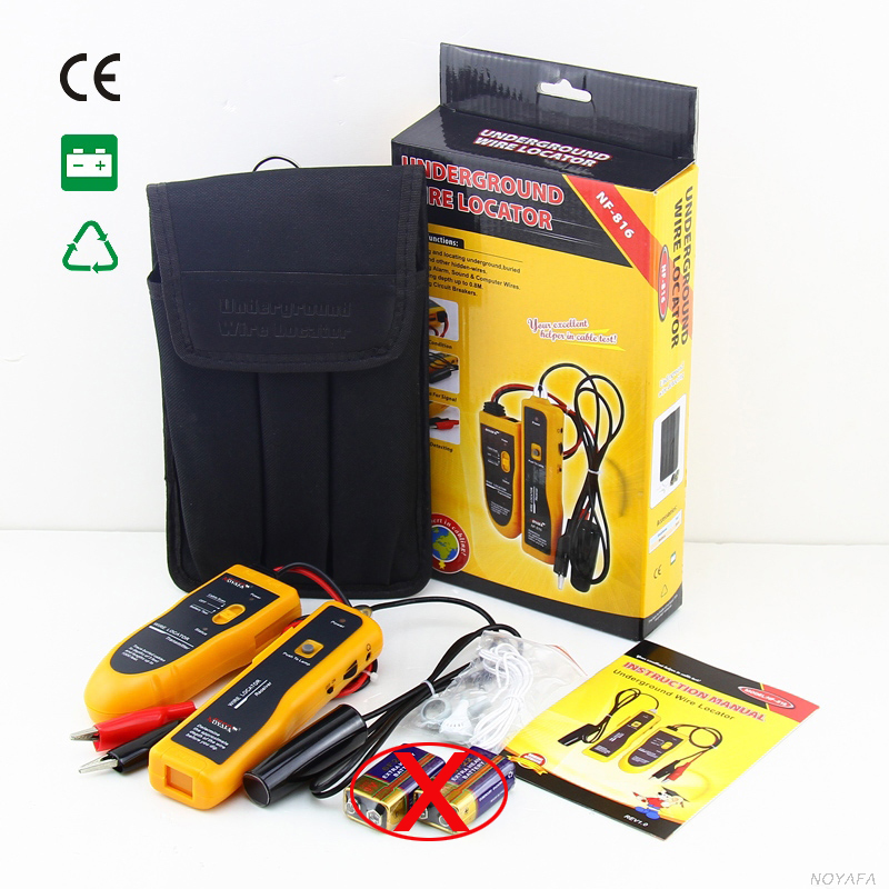 Original NOYAFA NF-816 NF816 RJ11 Telephone Wire Tracker Cable Tester Locator Cable Fault Finder for Underground Buried Wires(China (Mainland))