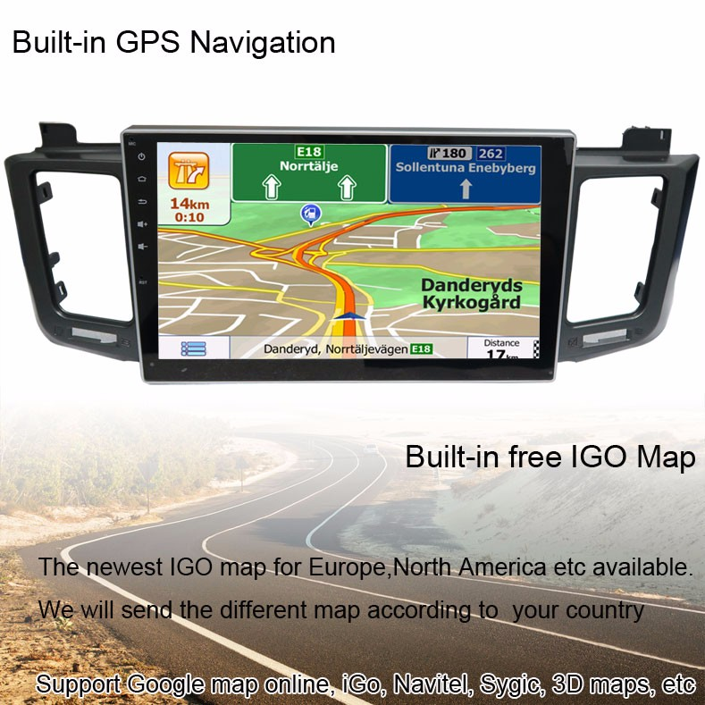 10.2 inch Quad-Core 1024*600 Android Car GPS Radio for Toyota RAV4 Support Wifi,Smartphone Mirror-link,Android App