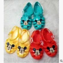 Free shipping kids shoes Summer's shoes fashionable men and women between solid color cartoon slipper sandals flip-flops 4502