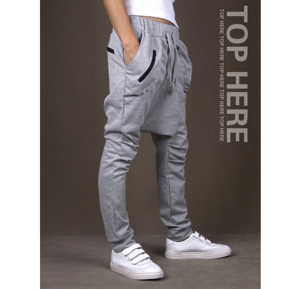 2015 Fashion Sport Trousers Drop Crotch Pants Men Skinny Harem Swag Dance Joggers Jogging Homme Hip Hop Pant Casual Sweatpants(China (Mainland))