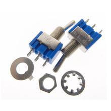 2Pcs Baby Blue Mini MTS-102 3-Pin SPDT ON-ON 6A 125V / 3A 250V AC Miniature Toggle Switches(China (Mainland))
