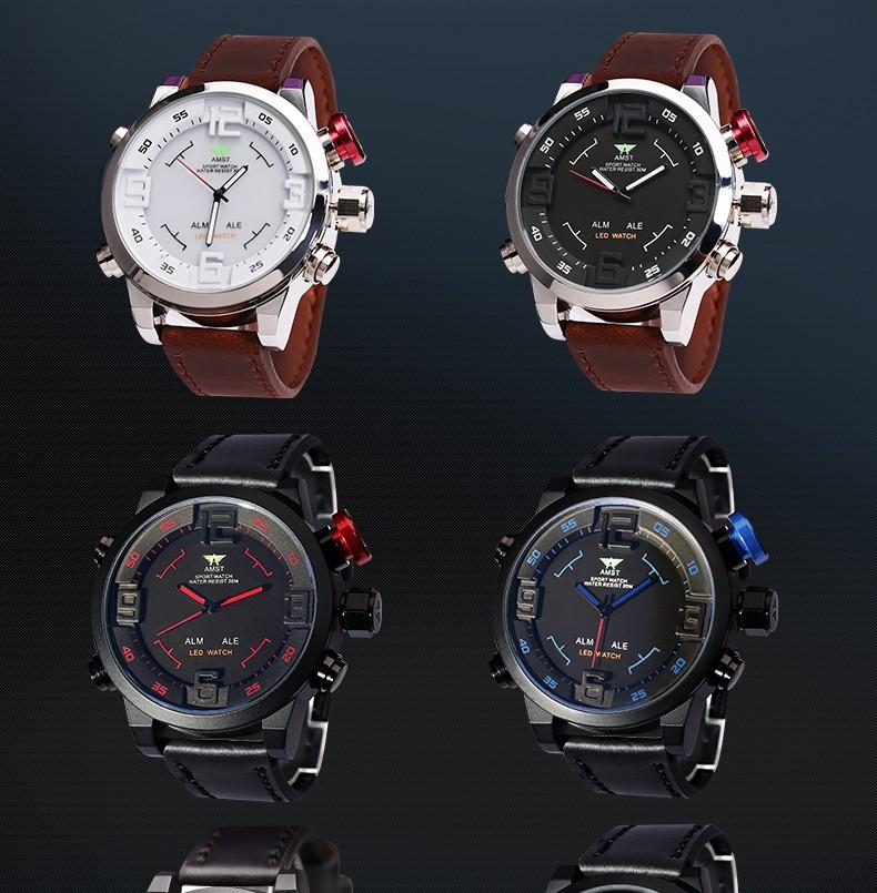 2016 новый дизайн AMST Подлинной специальное многофункциональный СВЕТОДИОДНЫЙ военные кварцевые часы открытый спортивные часы