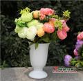 3 pcs lot 2015 Wholesales fashion cheap wedding silk flower large artificial silk peony bouquet