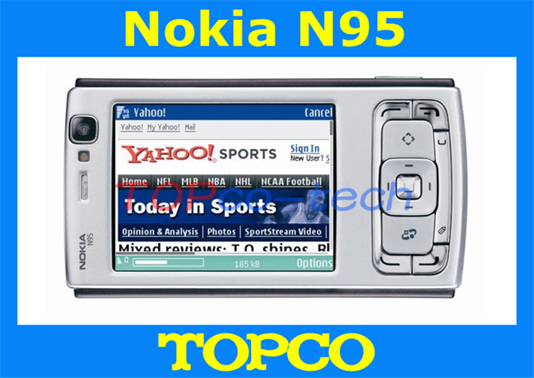 Original Unlocked Nokia N95 cell phone 3G GSM 5MP Camera mobile phone with WIFI GPS Free shipping(China (Mainland))