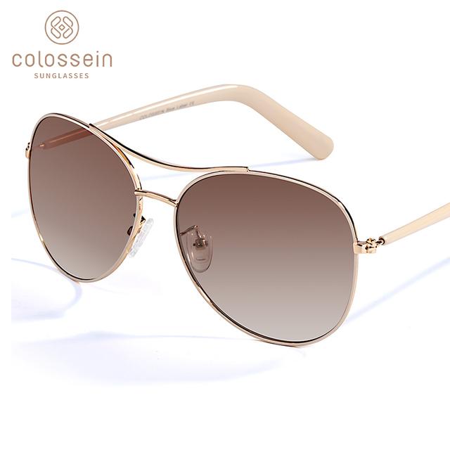 COLOSSEIN Sunglasses Women Fashion Gold Frame Classic Female Unisex Sun Glasses For 2019 Outdoor Eyewear UV400 gafas de sol