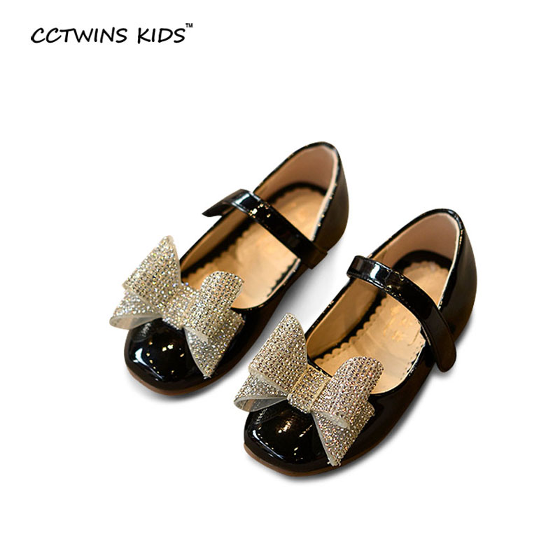 2016 new autumn children pu leather shoes for toddler rhinestone sheos kids fashion butterfly shoes baby girls dance shoes flats(China (Mainland))