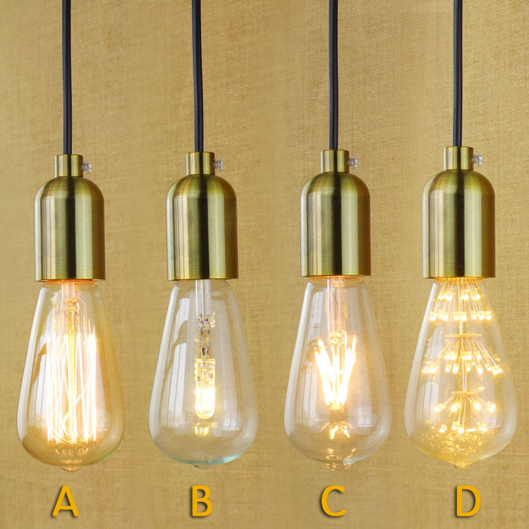 Single-head simple nostalgia E27 lamp personality Patisserie Restaurant Hotel aisles chandeliers head group<br><br>Aliexpress