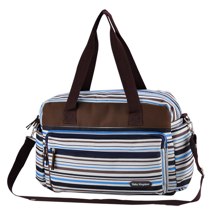 Colorful striped diaper bag Fashion maternity mummy messenger bags And Multifunctional baby stroller bag baby care nappy change(China (Mainland))