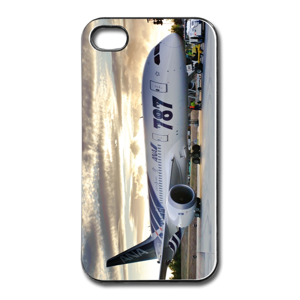 Free Shipping Plastic Case Boeing 787 Custom Cover For Iphone 4 Accept Your Own Logos(China (Mainland))