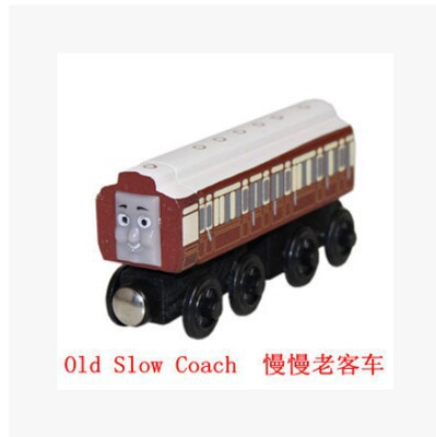 Ferdinand set Original Thomas-Old Slow Coach And Friends Wooden Magnetic Railway Model Train Engine Boys Toy With The Carriage(China (Mainland))