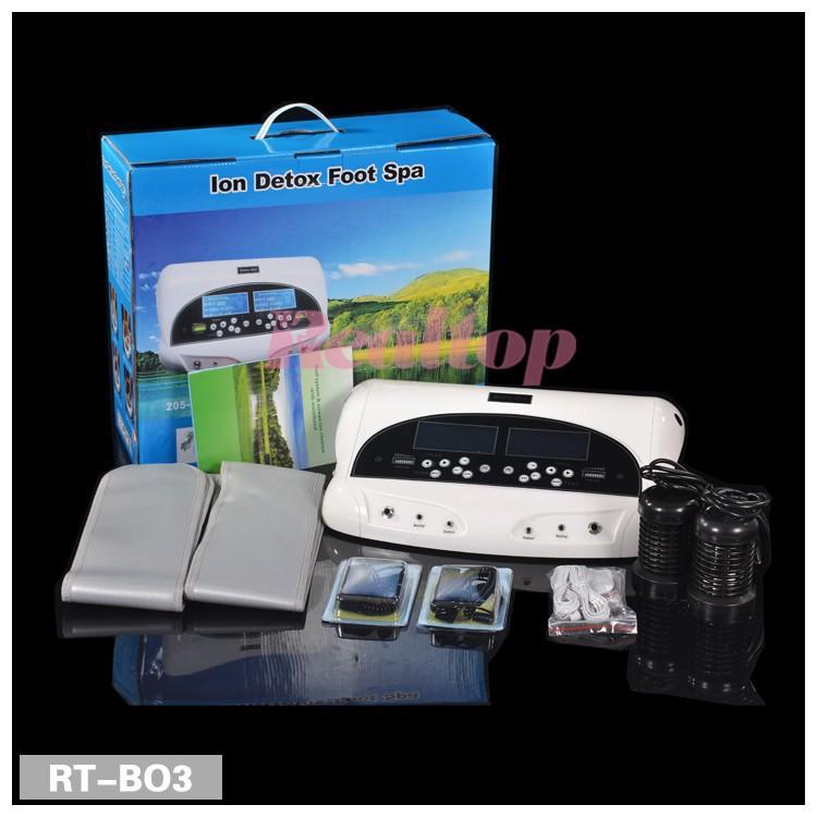 Detox Machine Foot Spa Machine Ion Cleanse Foot Spa Machine ionic detox foot spa with FIR belt free shipping(China (Mainland))