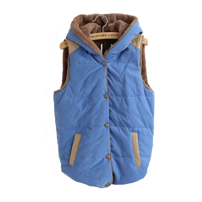 Women fight women plus leather hooded cotton vest fleece Thermal Jacket Women(China (Mainland))