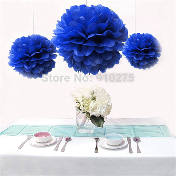 """Free shipping 14"""" 35cm 30pcs/lot wedding paper flower rose balls pompom garland decorations for party 24 colors(China (Mainland))"""