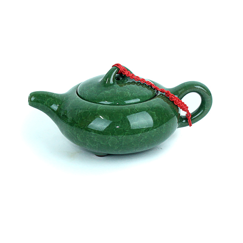 Purple travel kung fu tea calvings glaze teapot single pot fashion cracked ice tea pot(China (Mainland))