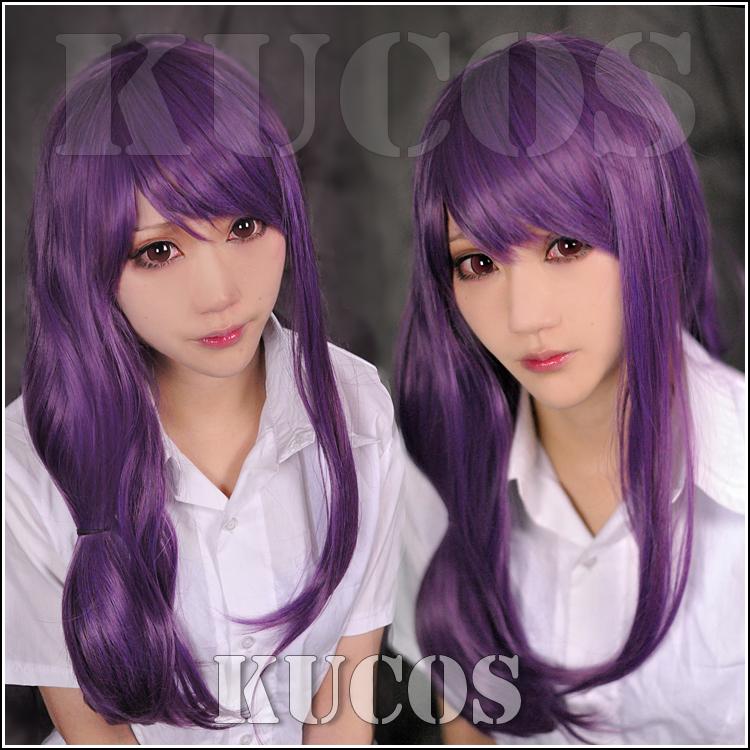 New Anime Tokyo ghoul Kamishiro Rize Cosplay Kaori purple Wig<br><br>Aliexpress