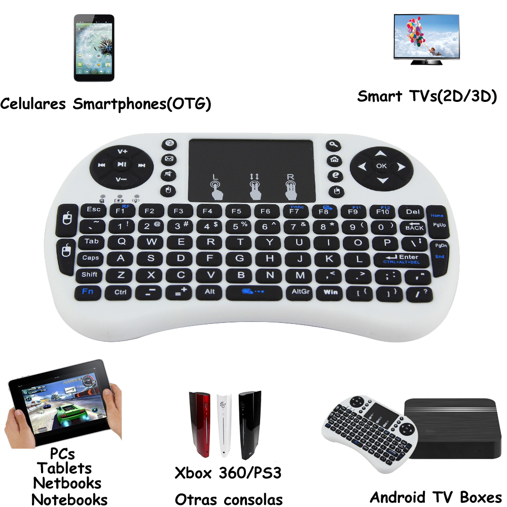 Original I8 Mini Wireless Keyboard with Touchpad 2.4G Fly Air Mouse Combo Teclado for HDPC Win7 Pad for Xbox360 for PS3 TV Box(China (Mainland))