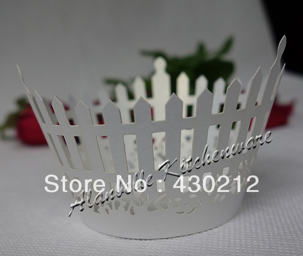 Classical White lace paper fondant cake mold single holder baking cups Cupcake Wrapper baby shower 2 - AlanBelle Kitchenware&Party Decors Supplier store