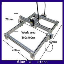 Laser 30 * 40cm large area 7000 mw laser engraving machine DIY mini engraving machine 7 w laser module laser cutter machine