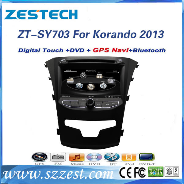 2015 ZESTECH free shipping 7inch car dvd player for SSANG YONG Korando 2013 with Bluetooth GPS(China (Mainland))