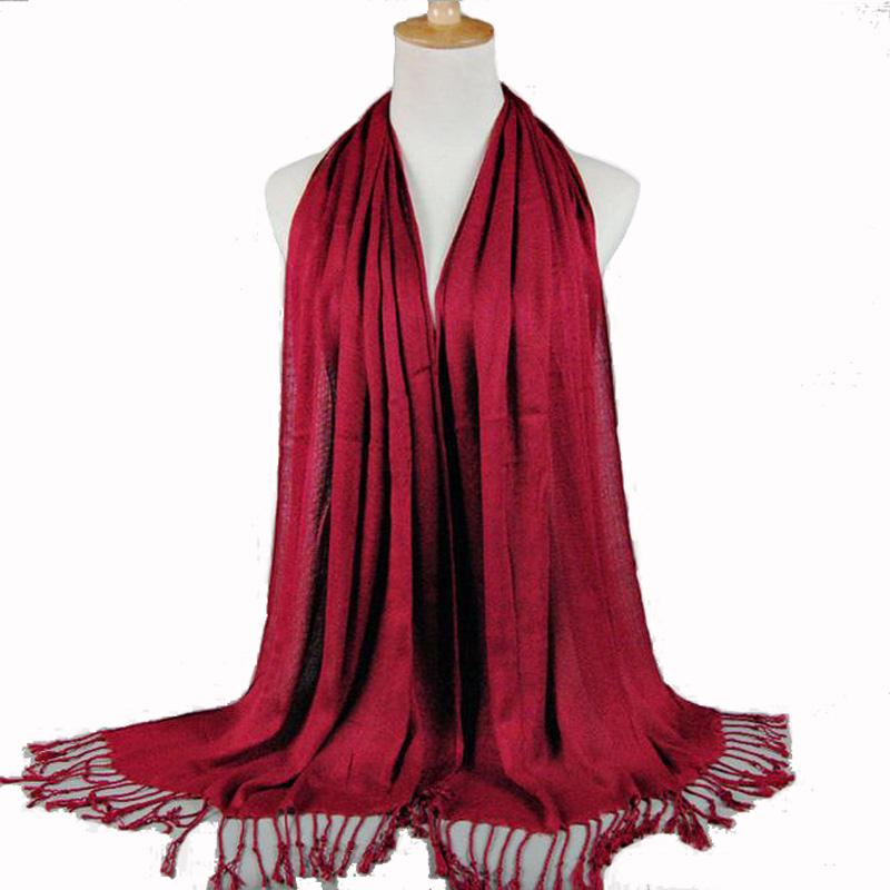 Free Shipping New Ladies Pashmina Silk Shawl Scarf Warm Wrap Wholesale Retail  SW-12Одежда и ак�е��уары<br><br><br>Aliexpress